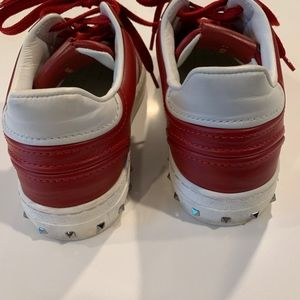 Valentino Red sneakers with studs